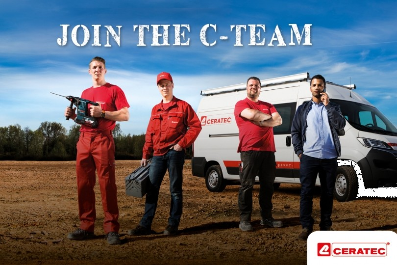 Visual of the recruitment campaign Join the C-team